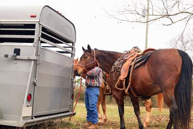 man-horse-trailer-used